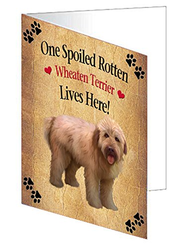 Spoiled Rotten Wheaten Terrier Dog Greeting Card