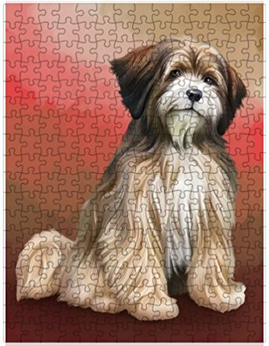 Tibetan Terrier Dog Puzzle with Photo Tin