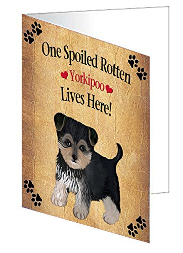 Spoiled Rotten Yorkipoo Dog Note Card
