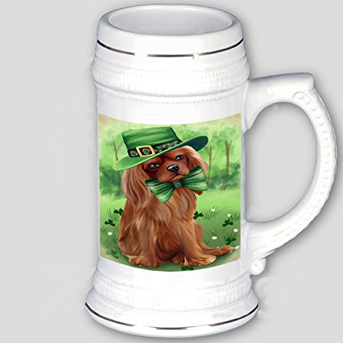 St. Patricks Day Irish Portrait Cavalier King Charles Spaniel Dog Beer Stein BST480628