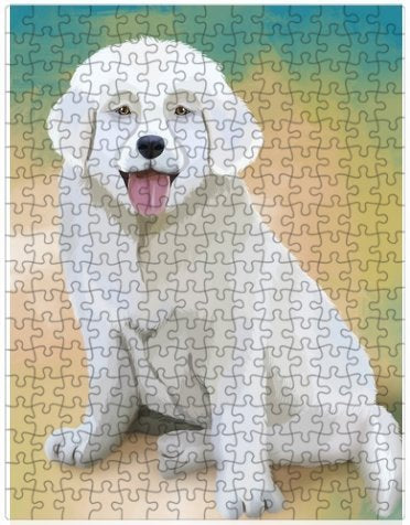 Slovensky Cuvac Puppy Dog Puzzle with Photo Tin