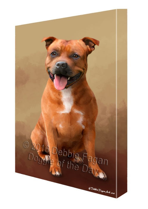 Staffordshire Bull Terrier Dog Canvas Wall Art