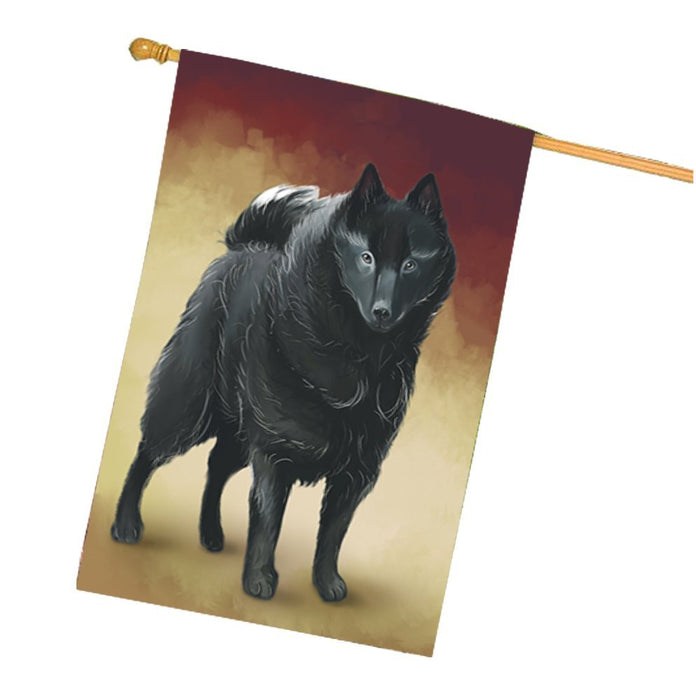 Schipperke Dog House Flag