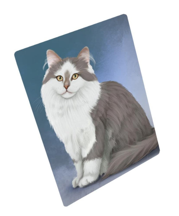 Siberian Cat Tempered Cutting Board
