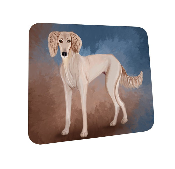 Saluki Puppy Dog Coasters Set of 4