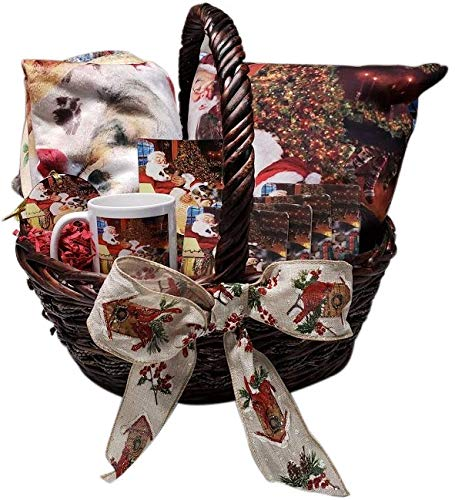 The Ultimate Dog Lover Holiday Gift Basket Saint Bernards Dog Blanket, Pillow, Coasters, Magnet Coffee Mug and Ornament SSGB48085