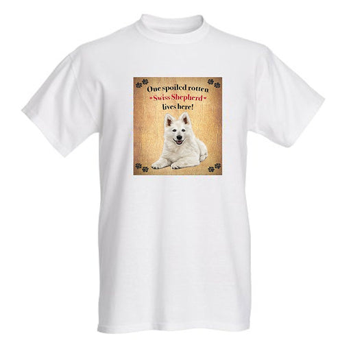 Swiss Shepherd Spoiled Rotten Dog T-Shirt