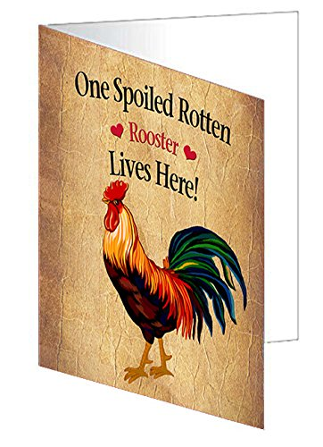 Spoiled Rotten Rooster Greeting Card