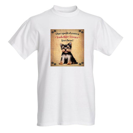 Yorkshire Terrier Spoiled Rotten Dog T-Shirt