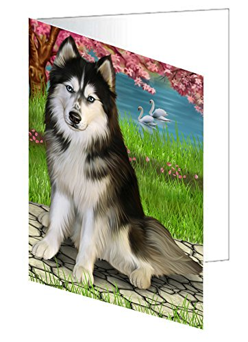 Siberian Husky Dog Note Card
