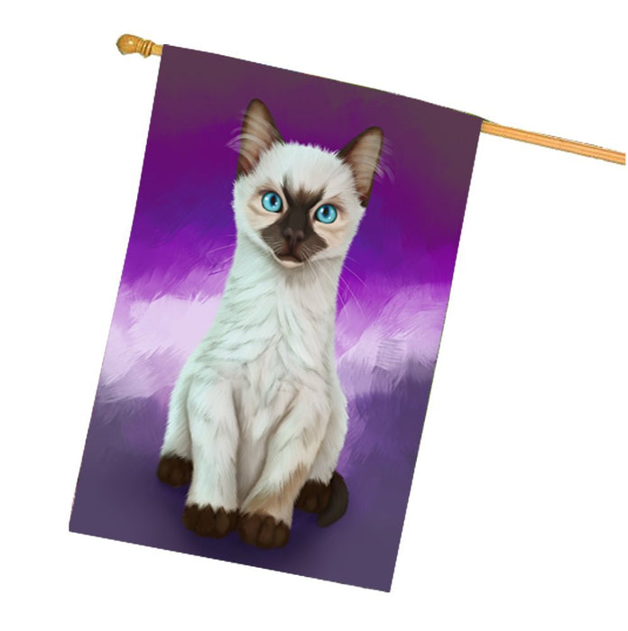 Siamese Kitten House Flag FLGA48115