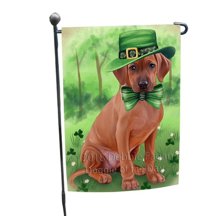 St. Patricks Day Irish Portrait Rhodesian Ridgeback Dog Garden Flag GFLG49154