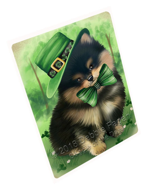 St. Patricks Day Irish Portrait Pomeranian Dog Large Refrigerator / Dishwasher Magnet RMAG55104
