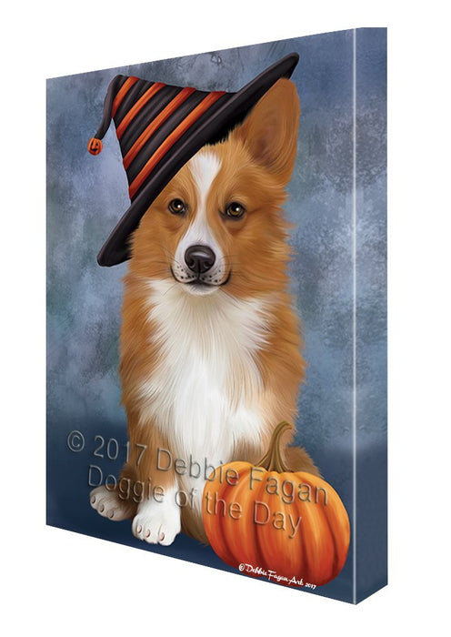 Welsh Corgi Dog Canvas Wall Art CV356
