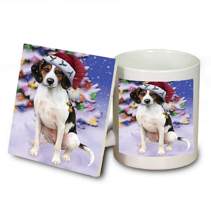 Winter Wonderland Treeing Walker Coonhound Dog Christmas Mug and Coaster Set MUC0760