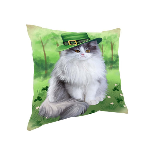 St. Patricks Day Irish Portrait Persian Cat Pillow PIL52700