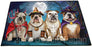 Happy Halloween Trick or Treat Bulldog Dog Indoor/Outdoor Floormat