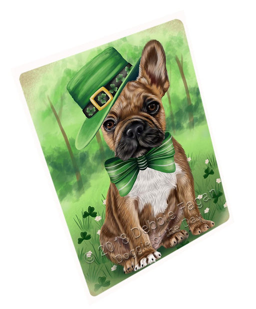 St. Patricks Day Irish Portrait French Bulldog Tempered Cutting Board C50271
