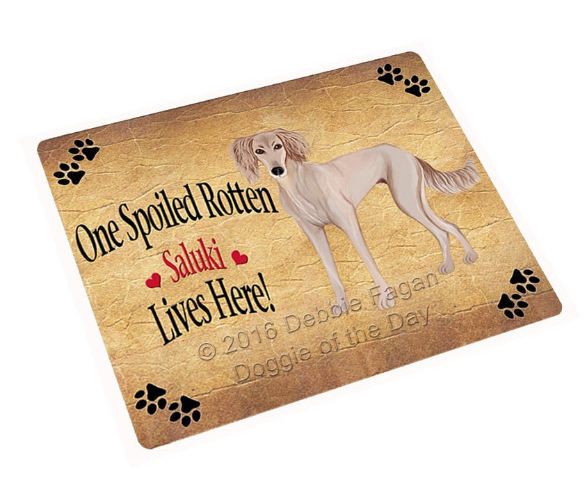 Saluki Puppy Spoiled Rotten Dog Refrigerator Magnet