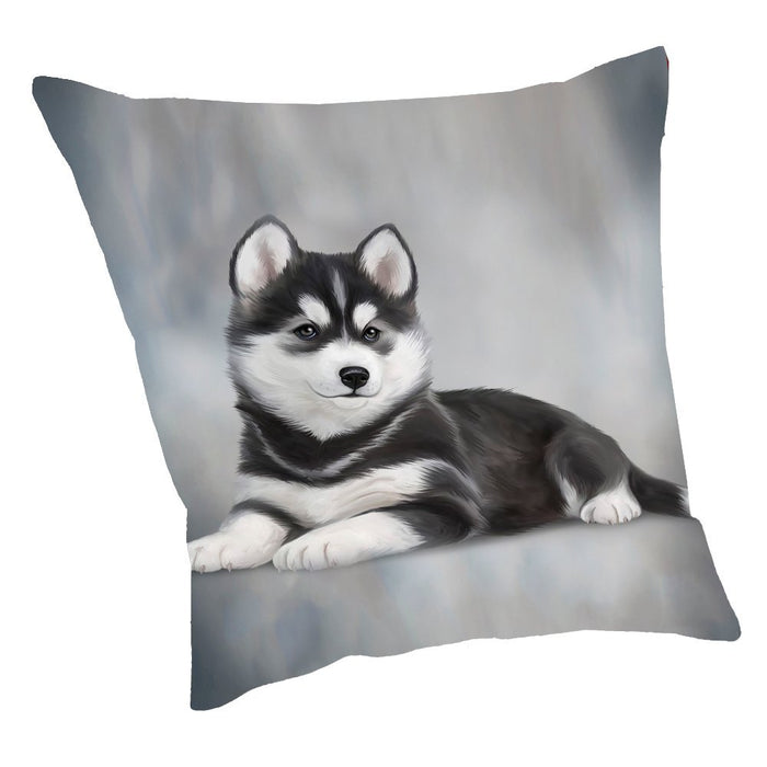 Siberian Husky Dog Throw Pillow D053