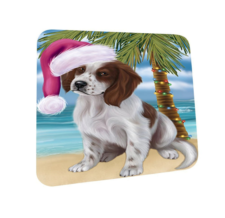 Summertime Irish Setter Puppy on Beach Christmas Coasters CST610 (Set of 4)