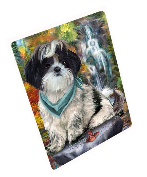 "Scenic Waterfall Shih Tzu Dog Magnet Mini (3.5"" x 2"") MAG52419"