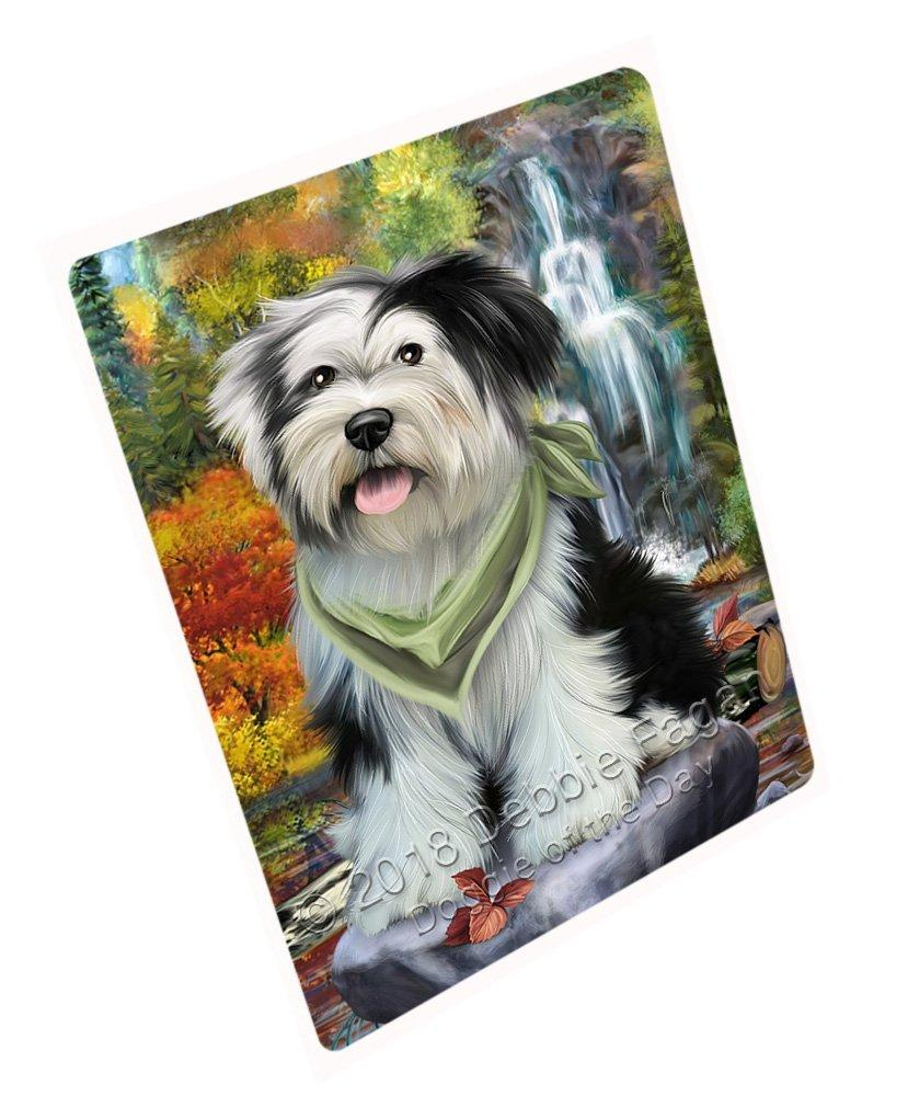 "Scenic Waterfall Tibetan Terrier Dog Magnet Small (5.5"" x 4.25"") mag52452"
