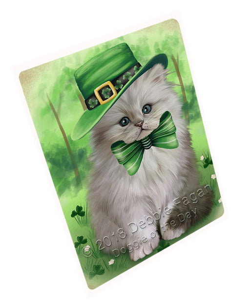 St. Patricks Day Irish Portrait Persian Cat Large Refrigerator / Dishwasher Magnet RMAG55026