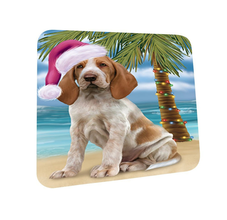 Summertime Bracco Italiano Dog on Beach Christmas Coasters CST461 (Set of 4)