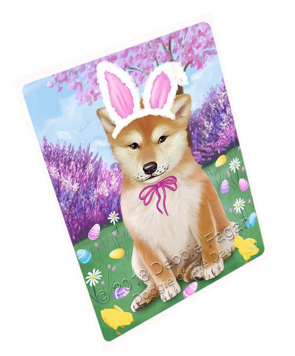 Shiba Inu Dog Easter Holiday Large Refrigerator / Dishwasher Magnet RMAG56136