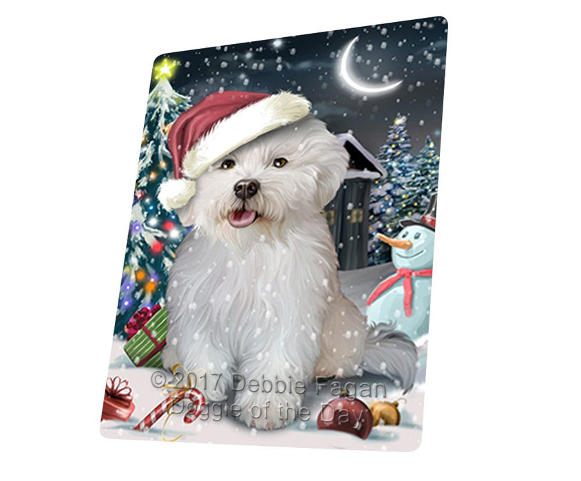 Have a Holly Jolly Christmas Bichon Dog in Holiday Background Magnet D069