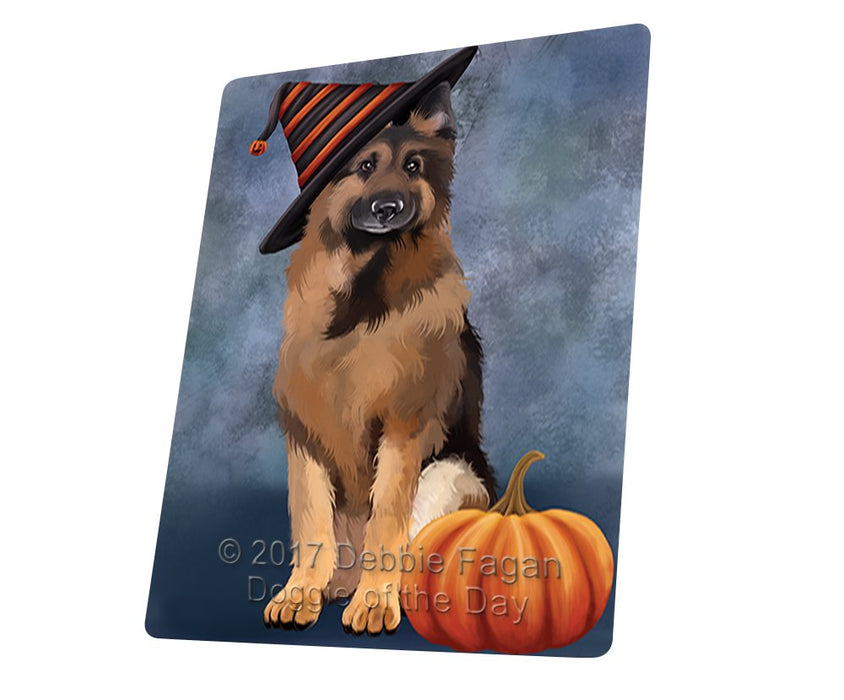 "Happy Halloween German Shepherds Dog With Witch Hat With Pumpkin Magnet Mini (3.5"" x 2"")"