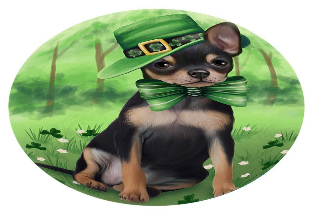 St. Patricks Day Irish Portrait Chihuahua Dog Oval Envelope Seals OVE51112