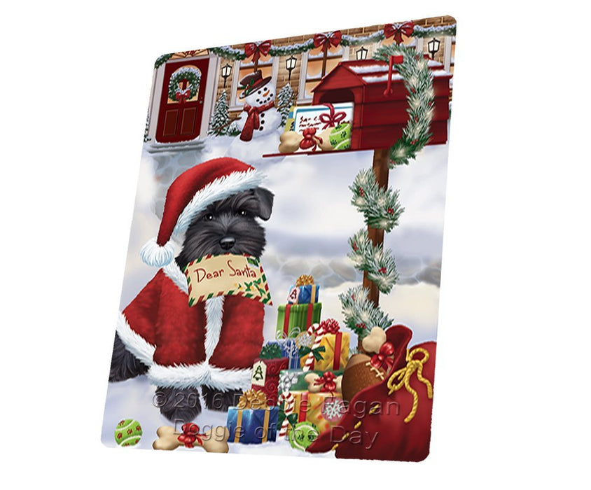 "Schnauzers Dear Santa Letter Christmas Holiday Mailbox Dog Magnet Mini (3.5"" x 2"")"