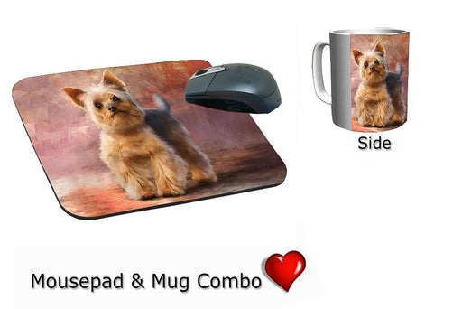 Yorkshire Terrier Dog Mug & Mousepad Combo Gift Set