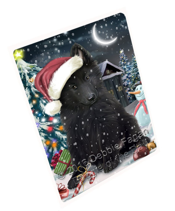 "Have A Holly Jolly Christmas Belgian Shepherd Dog In Holiday Background Magnet Mini (3.5"" x 2"") D009"