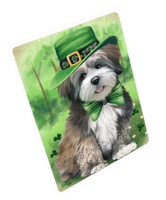 St. Patricks Day Irish Portrait Lhasa Apso Dog Large Refrigerator / Dishwasher Magnet RMAG52710