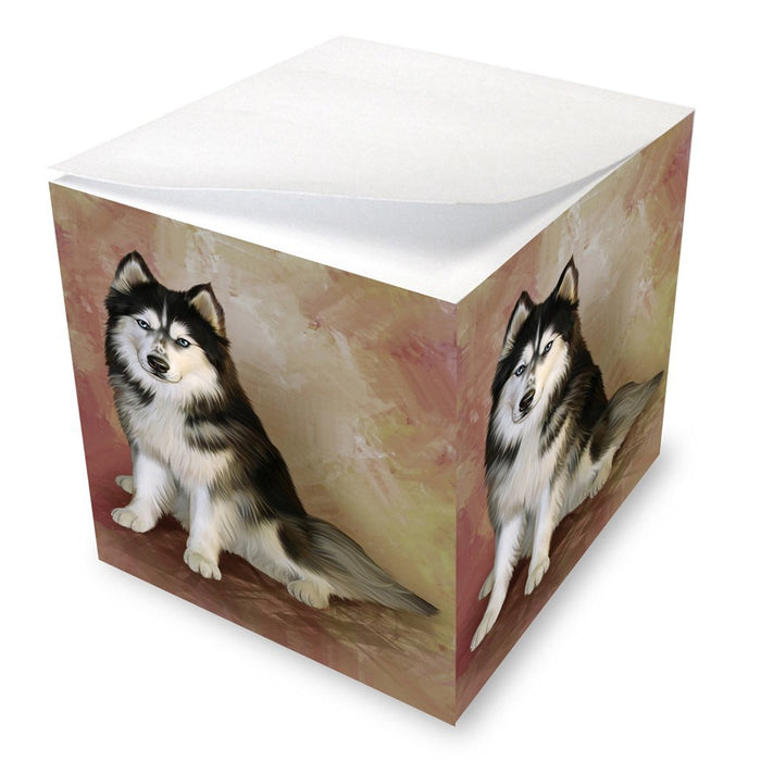 Siberian Husky Dog Note Cube