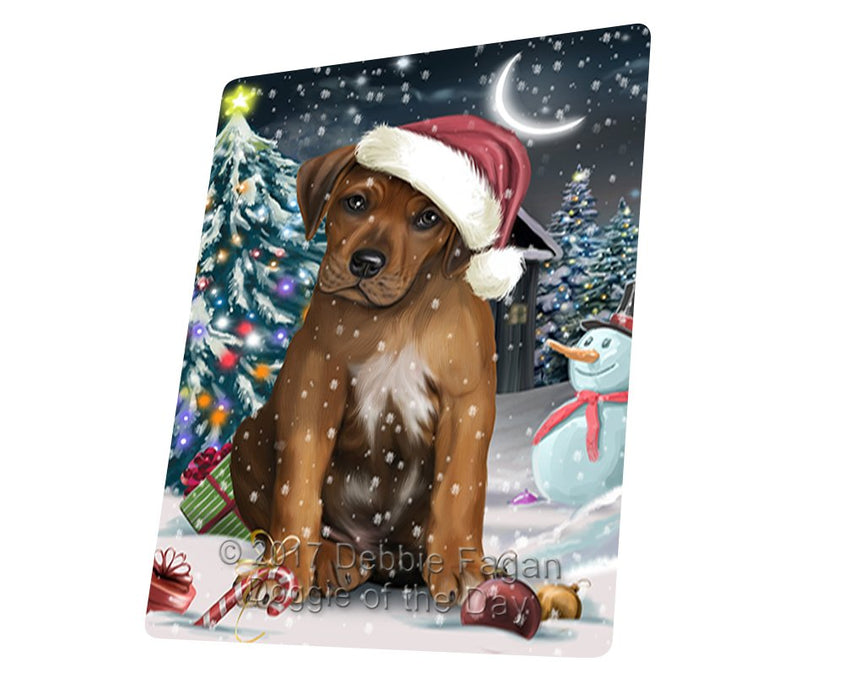 "Have A Holly Jolly Christmas Rhodesian Ridgeback Dog In Holiday Background Magnet Mini (3.5"" x 2"") D117"