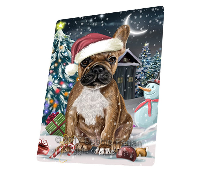 "Have A Holly Jolly Christmas French Bulldogs Dog In Holiday Background Magnet Mini (3.5"" x 2"") D068"