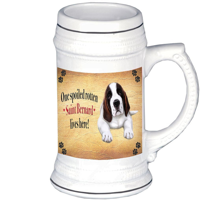 Saint Bernard Spoiled Rotten Dog Beer Stein