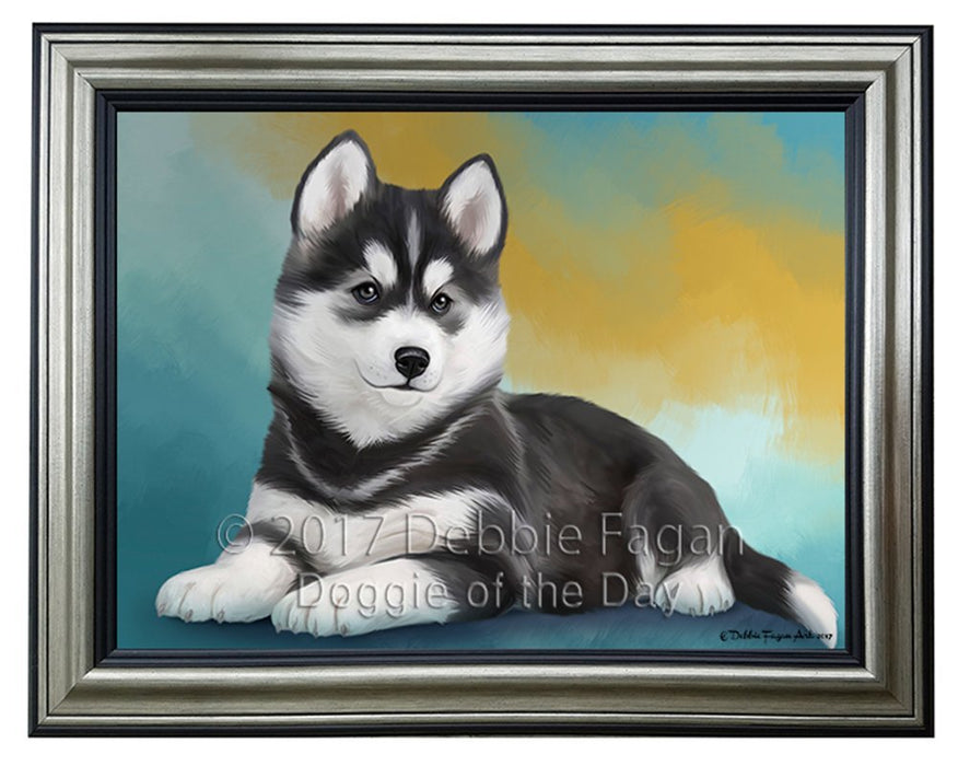 Siberian Husky Dog Framed Canvas Print Wall Art BRFRMCVS50125
