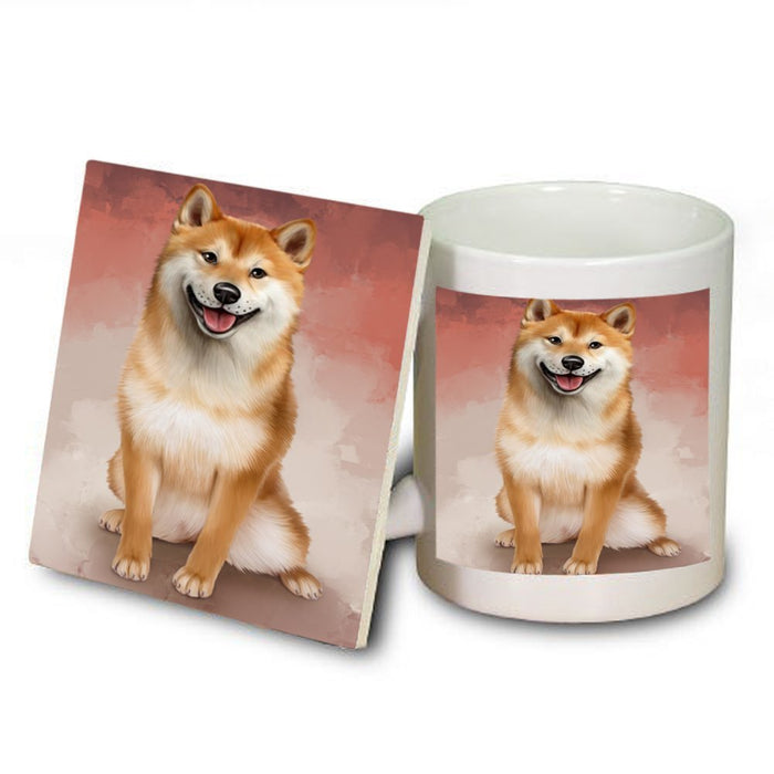 Shiba Inu Dog Mug and Coaster Set