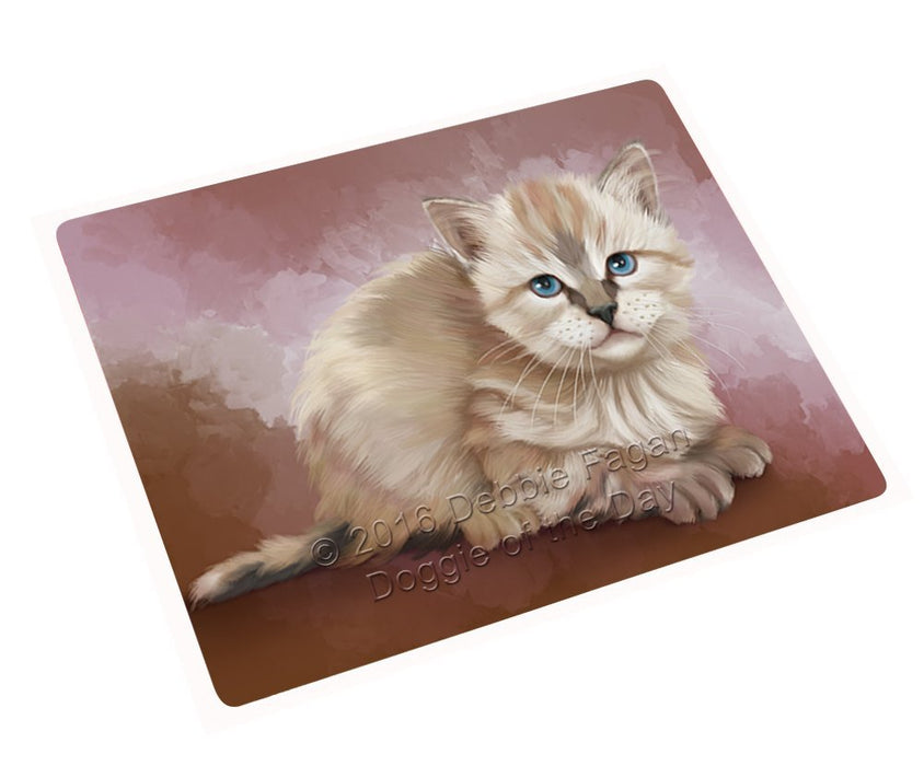 Seal Point Kitten Tempered Cutting Board C48273