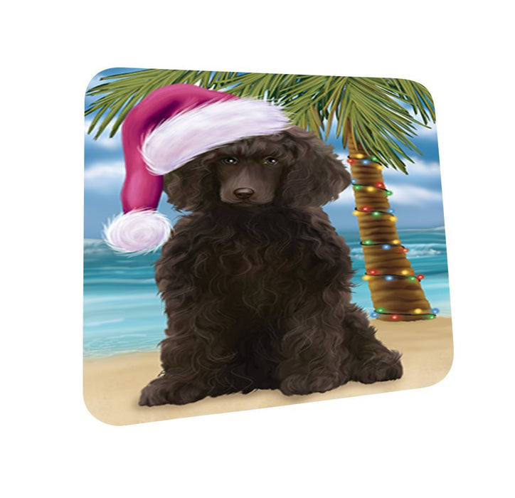Summertime Poodle Dog on Beach Christmas Coasters CST593 (Set of 4)