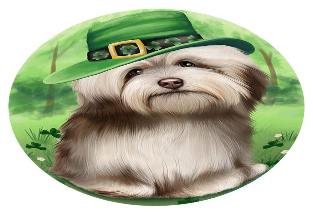 St. Patricks Day Irish Portrait Havanese Dog Oval Envelope Seals OVE51260