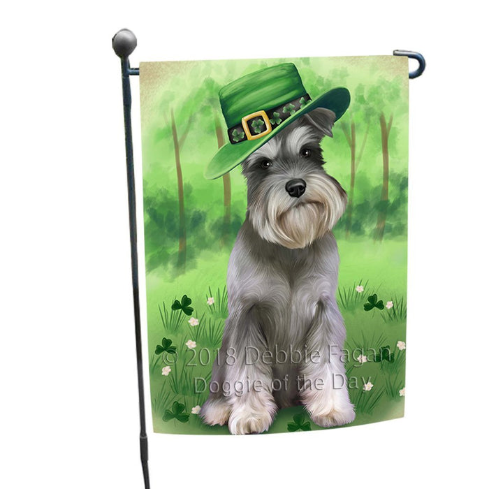St. Patricks Day Irish Portrait Schnauzer Dog Garden Flag GFLG49164