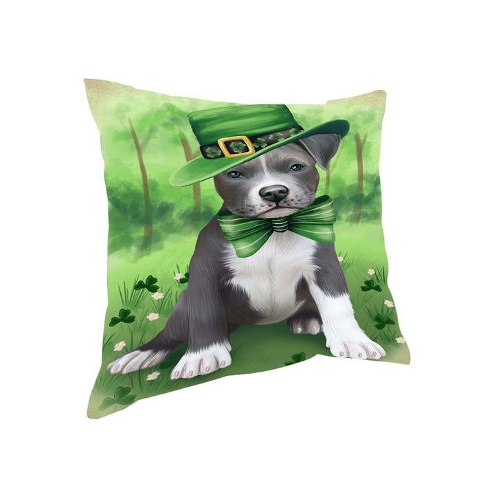 St. Patricks Day Irish Portrait Pit Bull Dog Pillow PIL52740