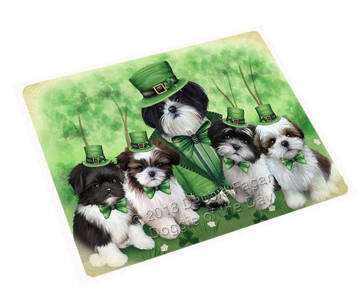 "St Patricks Day Irish Family Portrait Shih Tzus Dog Magnet Small (5.5"" x 4.25"") mag51705"