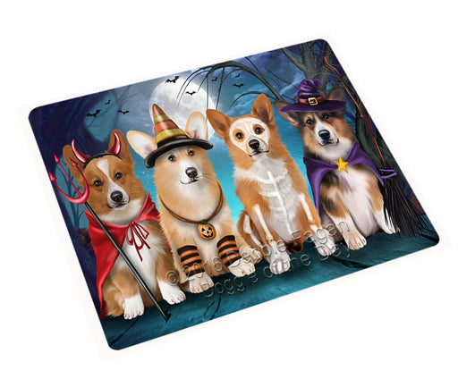 "Happy Halloween Trick Or Treat Pembroke Welsh Corgi Dog Magnet Mini (3.5"" x 2"")"
